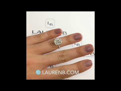 1.30 ct Radiant Cut Diamond Halo Engagement Ring