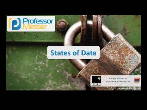 States of Data - CompTIA Security+ SY0-401: 4.4