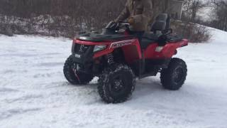 8. 2017 Arctic cat trv 500 playing in the snow