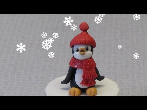Come fare un pinguino in pasta di zucchero tutorial
