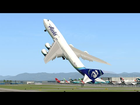 Giant Boeing 747 Vertical Takeoff  X-Plane 11