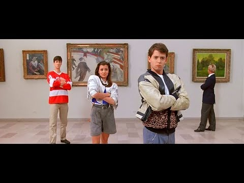 At the museum and nearly being caught: Ferris Bueller's Day Off (1986)