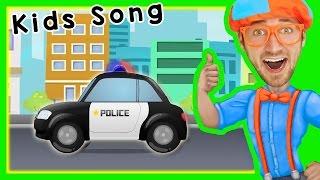Police Cars for Children with Blippi   Songs for Kids