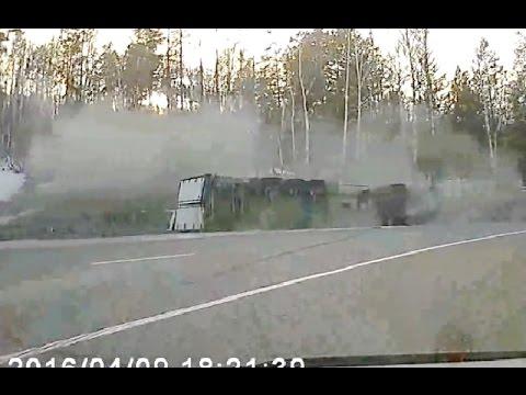 Аварии грузовиков Апрель 2016