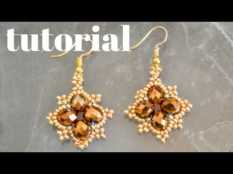 DIY TUTORIAL MINI ARETES DE MOSTACILLAS Y CRISTALES 2019 / DIY MINI MOSTACILLAS AND CRYSTAL EARRINGS
