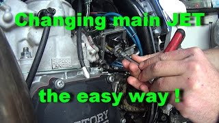 6. How to change main JET 2 stroke YZ250 without removing carb