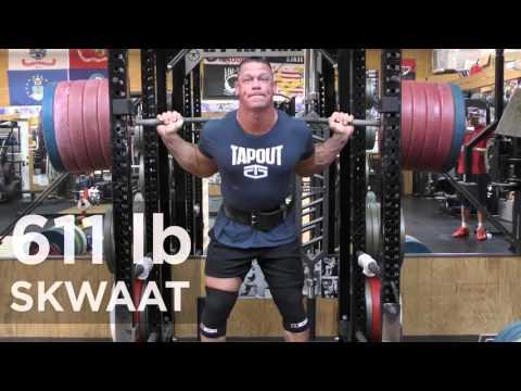 John Cena Squats 611 Pounds