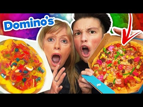 REAL FOOD VS GUMMY FOOD CHALLENGE!! (видео)