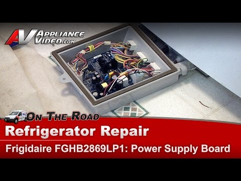 Electrolux Refrigerator Main Power Board diagnostic & Repair  T0614 02 Frigidaire  FGHB2869L