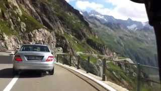 Driving in swiss alps. This is in the Sustenpass in Switzerland.