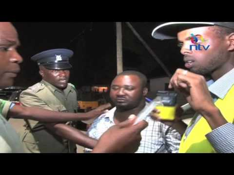 Drama as drunk drivers are arrested in NTSA's Mtwapa swoop (видео)