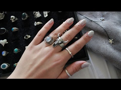 MY RING COLLECTION// SILVER, MOONSTONE, VINTAGE ETC. //2016
