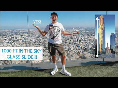1000 FT Up Glass Slide -- OUE SKYSPACE?? YIKES!