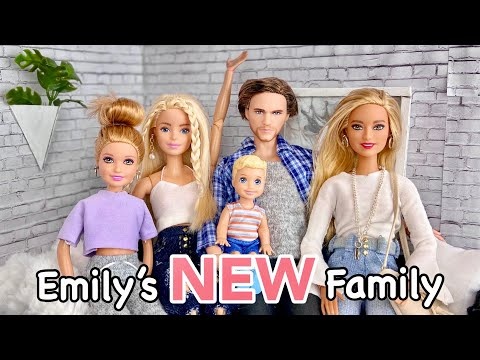 Emily's NEW Family!! Barbie Doll Transformations| Emily & Friends| Barbie Doll Videos