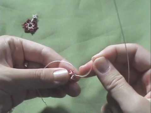 Needle tatting - lesson 3 - Kurs Frywolitkowy - lekcja 3