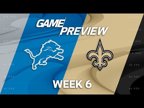 Video: Detroit Lions vs. New Orleans Saints | Week 6 Game Preview | NFL Playbook