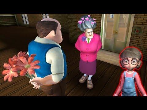 Злая Бабка Учительница Мисс Ти НАШЛА МУЖА! - Scary Teacher 3D