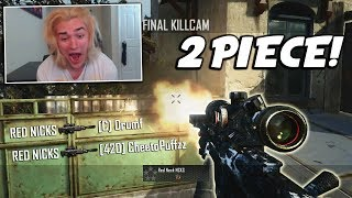 MY FIRST EVER 2 PIECE TRICKSHOT ON BLACK OPS 2! (INSANE REACTION!)