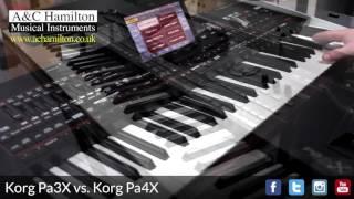 KORG Pa3X vs. Pa4X **NEW Pa4X Sounds & Styles**