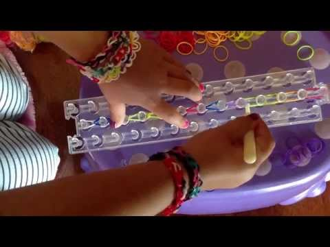 Single O rubberband bracelet rainbow loom wonder loom