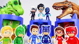 Video Romeo Brought A Scary Dinosaur~! PJ Masks Transforming Base Playset MP3, 3GP, MP4, WEBM, AVI, FLV Oktober 2018