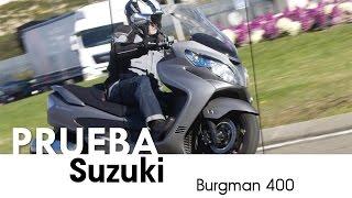 5. Suzuki Burgman 400 - videoprueba - castellano - 2016