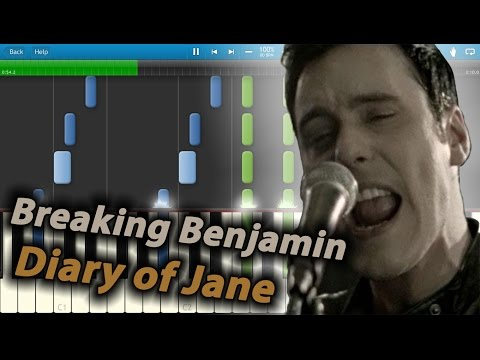 Breaking Benjamin - Diary Of Jane (Acoustic) [Piano Tutorial] Synthesia