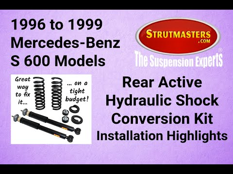 1992-1998 Mercedes S 600 With A Strutmasters Air Suspension Conversion (Rear Install Video)