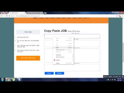 Video Copy & Paste Job, Home Base Work, Genuine, No Registration Fees Weekly Payout download in MP3, 3GP, MP4, WEBM, AVI, FLV January 2017