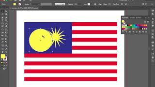 Adobe Illustrator drawing flag