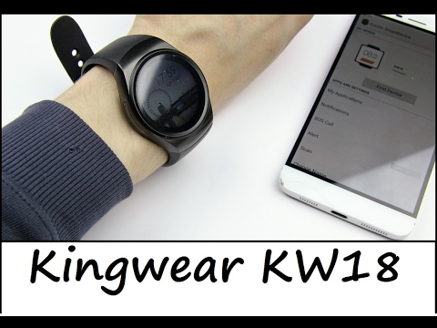 China Smartwatch Kingwear KW18 - iOS / Android - Review - Deutsch (видео)