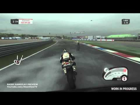 SBK 2011: Superbike World Championship - Rainy Track Gameplay Preview | HD