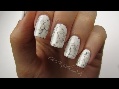 nail art unghie effetto marmo