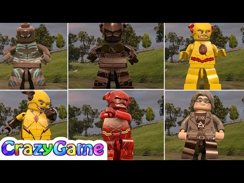 LEGO MARVEL's Avengers - All The Flash Vs Savitar Vs Zoom Vs Reverse Flash Gameplay With DLC MOD