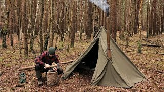 Nonton Winter Hot Tenting Alone in the Forest with a Canvas Tent and a Woodstove Film Subtitle Indonesia Streaming Movie Download