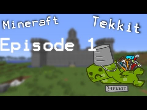 Minecraft Tekkit Playthrough Ep. 1! Gathering the Goods