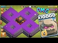 10000 Golem Attack In Clash Of Clans Omg Heaviest Attack Ever In Coc History