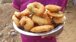Cooking Medu Vada Recipe in My Village | Two Variety Vada | VILLAGE FOOD