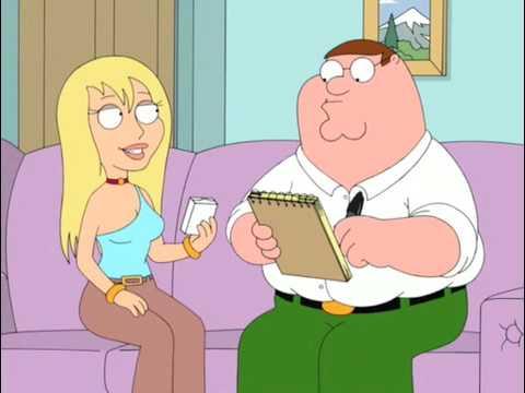 Family Guy: Jillian thinks her Junior Mints box is an iPod. LOL