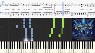 Come Alive (from The Greatest Showman) (Synthesia Piano Tutorial w/Lyrics)