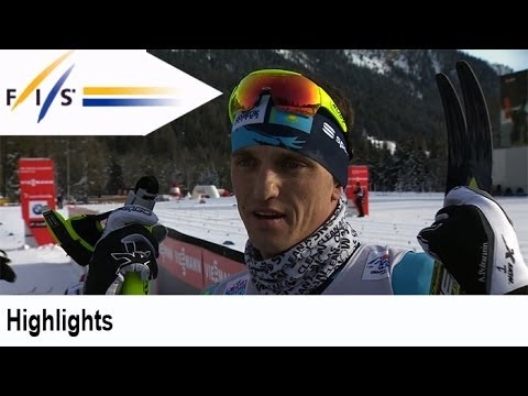 Видео победного финиша Алексея Полторанина на 'Тур де Ски'