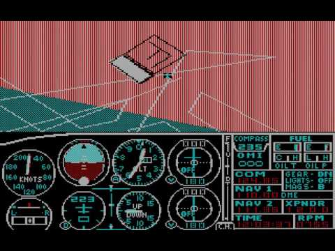 PC Booter Game: Microsoft Flight Simulator (v2.0) (1984 Microsoft)