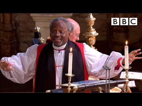 Love is the way | Bishop Michael Curry's captivating sermon  - The Royal Wedding - BBC (видео)