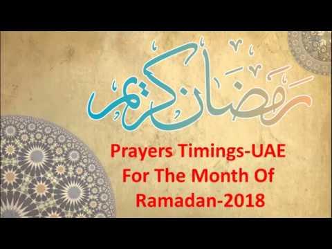 Prayers Timing in Ramadan-UAE 2018[Sehr & Iftar Timing 2018]