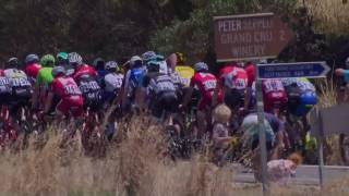 View highlights of Bupa Stage of the 2017 Santos Tour Down Under #TDU.