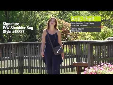 Anti-Theft Signature E/W Shoulder Bag  #43327