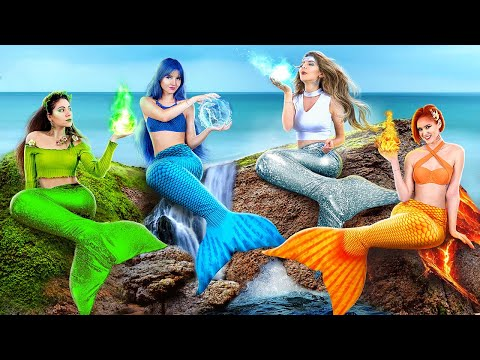 Fire, Water, Air, and Earth Mermaids! / Four Elements at College!