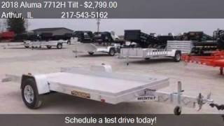 4. 2018 Aluma 7712H Tilt Aluminum Trailer for sale in Arthur, I