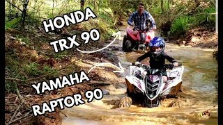 9. Yamaha Raptor 90 and Honda TRX 90 Trail Riding