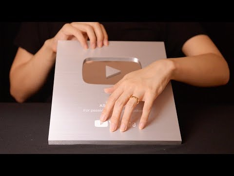 ASMR 100k Silver Play Button Unboxing (No Talking)